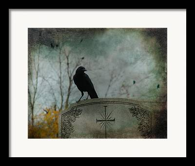 Crows On Tombstones Framed Prints