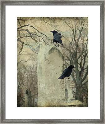 Tombstone Hoppers Framed Print by Gothicrow Images