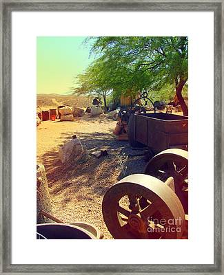 Tombstone Miner's Yard Framed Print