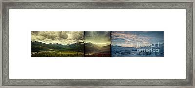 Tombstone Range Seasons Framed Print by Priska Wettstein