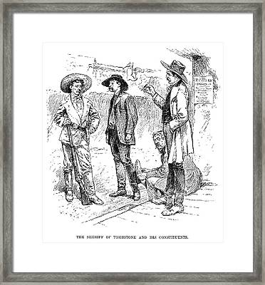 Tombstone Sheriff, 1883 Framed Print by Granger