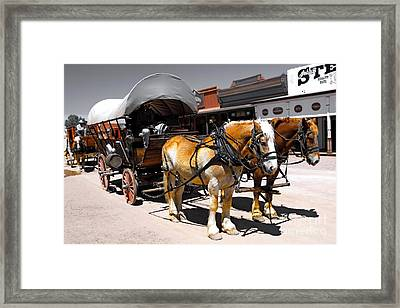 Tombstone Wagon Framed Print