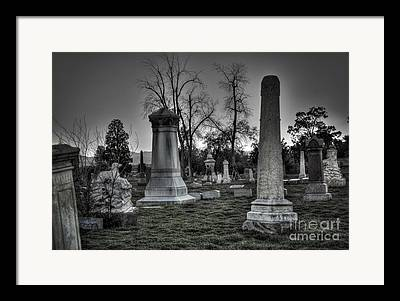 Place Of Burial Framed Prints