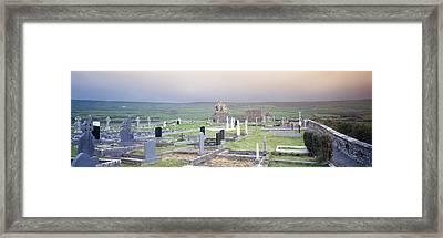 Tombstones In A Cemetery, Poulnabrone Framed Print by Panoramic Images