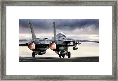 Tomcat Launch Framed Print by Peter Chilelli