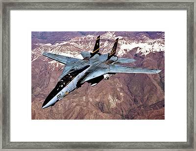 Tomcat Over Iraq Framed Print