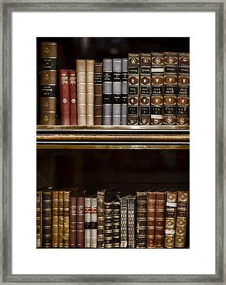 Tomes Framed Print by Heather Applegate