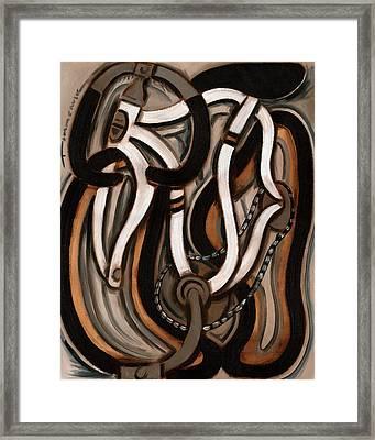 Abstract White Ten Speed Art Print Framed Print by Tommervik