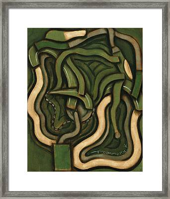 Tommervik Abstract Green Bicycle Framed Print