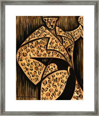 Cheetah Fur Coat Art Print Framed Print by Tommervik