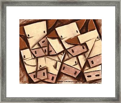 Cubism Cows Art Framed Print by Tommervik
