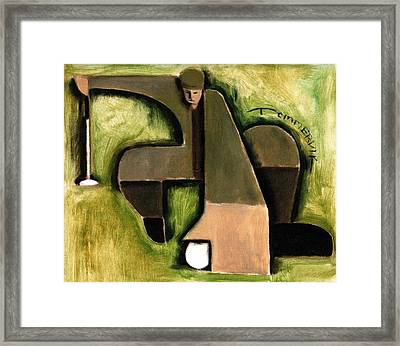 Tommervik Abstract Golf Putter Art Print Framed Print by Tommervik