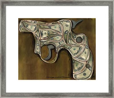Tommervik Cash Gun Art Print Framed Print by Tommervik