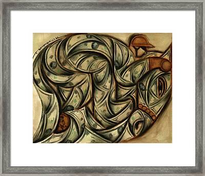 Tommervik Horse Racing Betting Art Print Framed Print