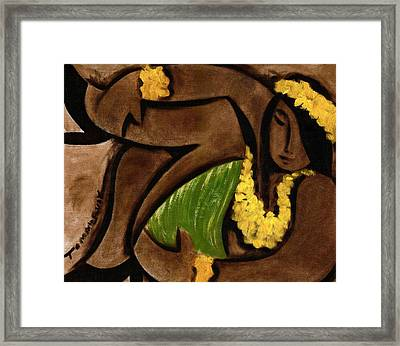 Tommervik Abstract Hula Girl Art Print Framed Print