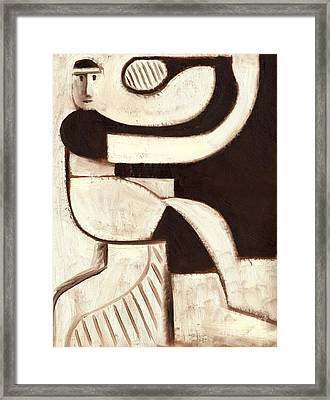 Tommervik Art Deco Tennis Player Art Print Framed Print