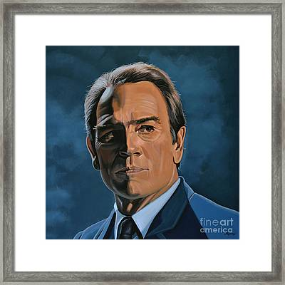 Tommy Lee Jones Framed Print