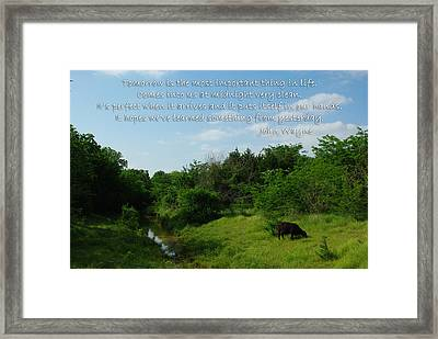 Tomorrow John Wayne Framed Print by Robyn Stacey