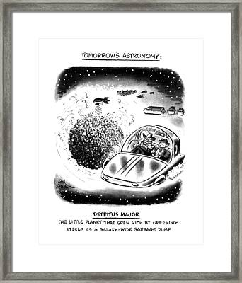 Tomorrow's Astronomy Detritus Major The Little Framed Print by Ed Fisher