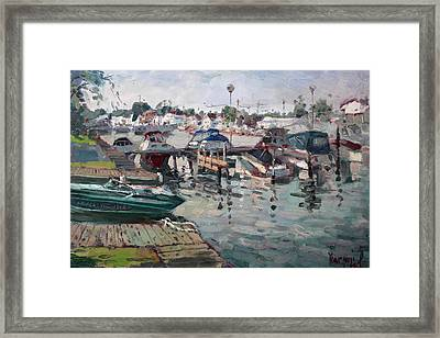 Tonawanda Island Launch Club  Framed Print