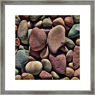 Tones Of Stones Framed Print by Kelley King