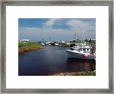 Toney River Framed Print by Janet Ashworth