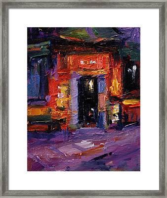 Tong Ah Restaurant Amsterdam Framed Print by R W Goetting