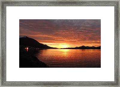 Tongass Narrows Sunrise On 12/12/12 Framed Print by Karen Horn