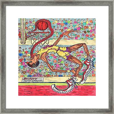 Tongue Jam Framed Print
