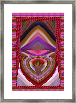 Tongue Twist Sensual Colorful Art Scratch Your Imagination  Framed Print by Navin Joshi