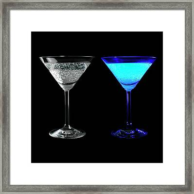 Tonic Water Fluorescing Framed Print