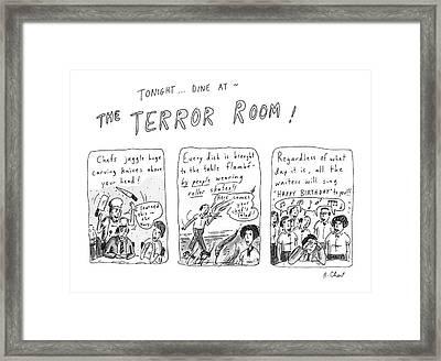 Tonight... Dine At The Terror Room Framed Print