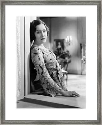 Tonight Or Never,gloria Swanson, 1931 Framed Print