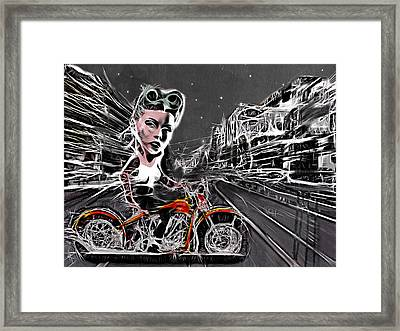Tonight We Ride Framed Print by Russell Pierce