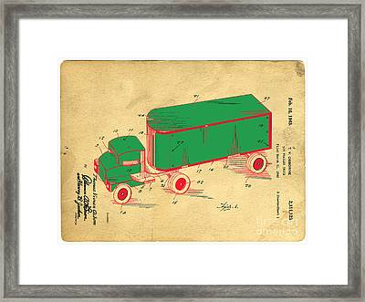 Tonka Truck Patent Framed Print by Edward Fielding