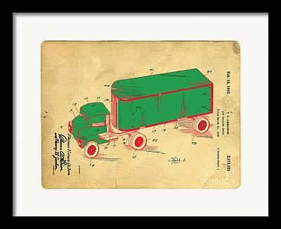 Toy Truck Framed Prints