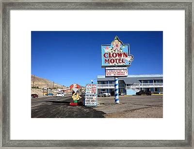 Tonopah Nevada - Clown Motel Framed Print by Frank Romeo