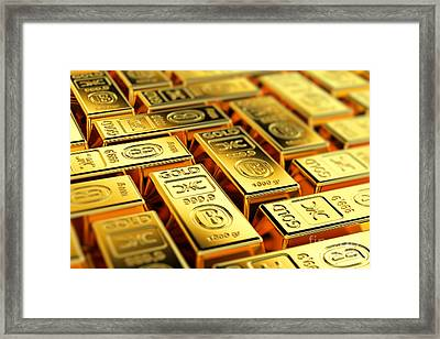 Tons Of Gold Framed Print