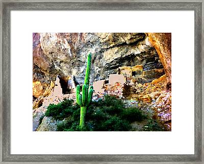 Tonto National Monument Framed Print