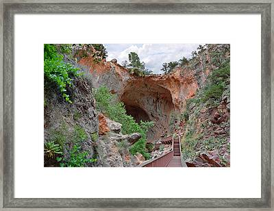 Tonto Natural Bridge Az Framed Print by Christine Till