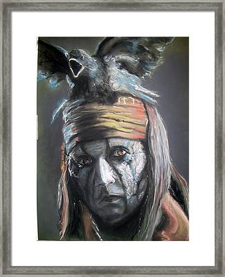 Framed Print featuring the pastel Tonto by Peter Suhocke