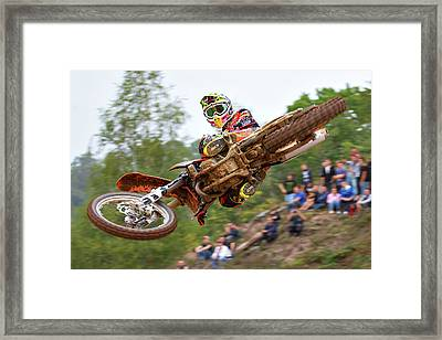 Tony Cairoli Whip Look - Maggiora Mx Opening Framed Print by Stefano Minella