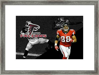 Tony Gonzalez Falcons Framed Print by Joe Hamilton