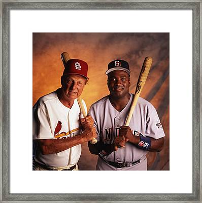 Tony Gwynn And Stan Musial Framed Print by Retro Images Archive