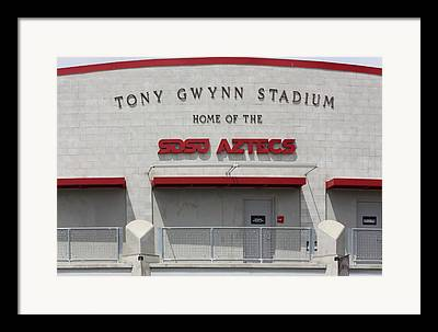 San Diego California Baseball Stadiums Digital Art Framed Prints