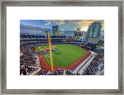 Tony Gwynn Tribute At Petco Park Framed Print by Mark Whitt