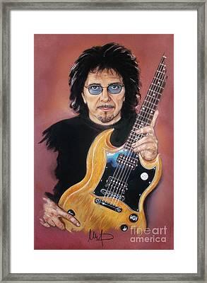 Tony Iommi Framed Print by Melanie D