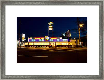 Tony Lukes - Cheese Steaks Framed Print by Bill Cannon