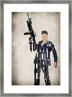 Tony Montana - Al Pacino Framed Print by Ayse Deniz