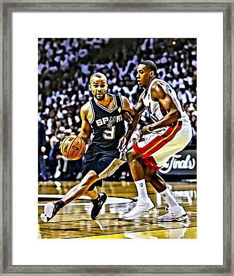 Tony Parker Painting Framed Print